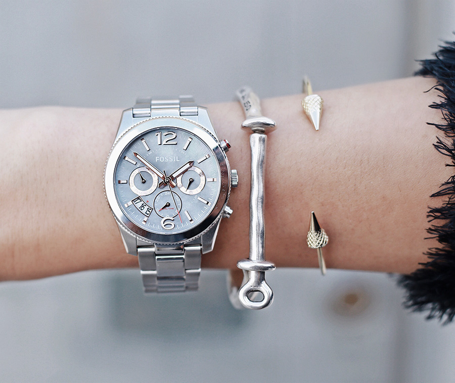Fossil Mother of Pearl Boyfriend Watch