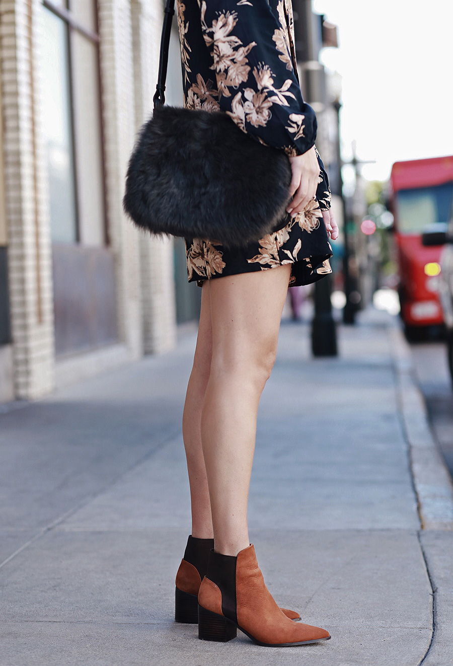 Fuzzy Bag Camel Booties for Fall