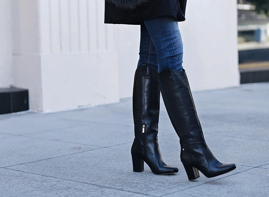 Leather Black Tall Boots | brittanyxavier.com