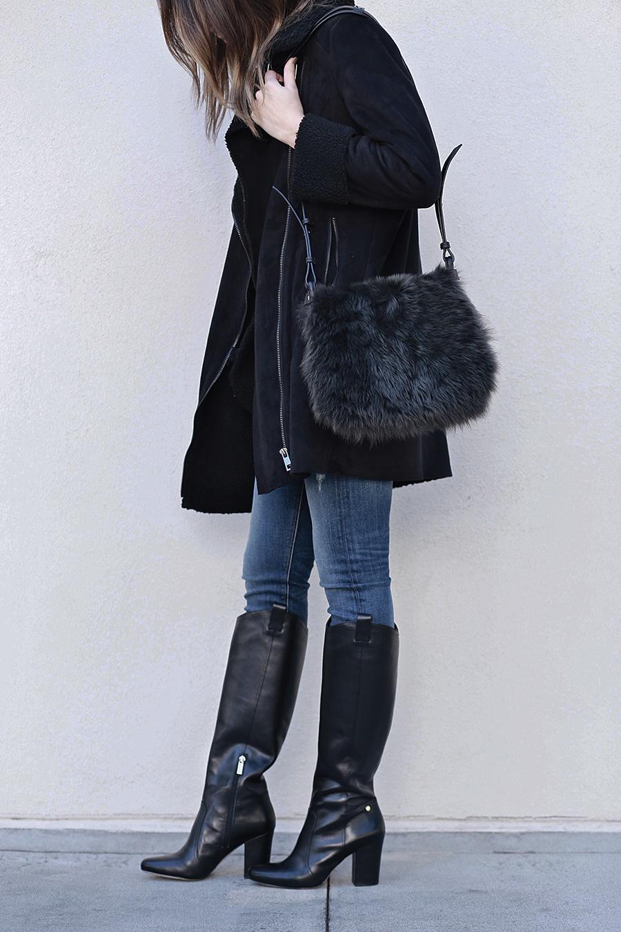 Louise et Cie Boots Fuzzy Handbag | brittanyxavier.com