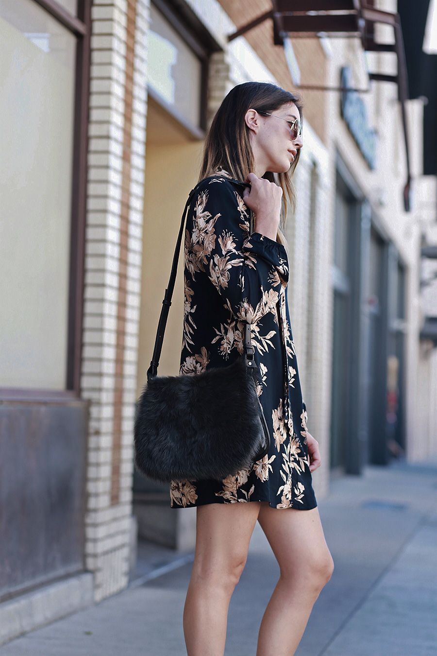 Thrifts and Threads Fall Floral Dress
