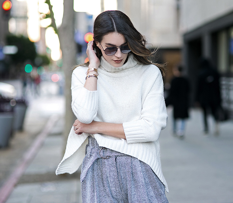 Rolled Neck Soft Sweater