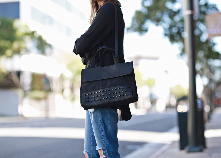 Studded Lightweight Satchel