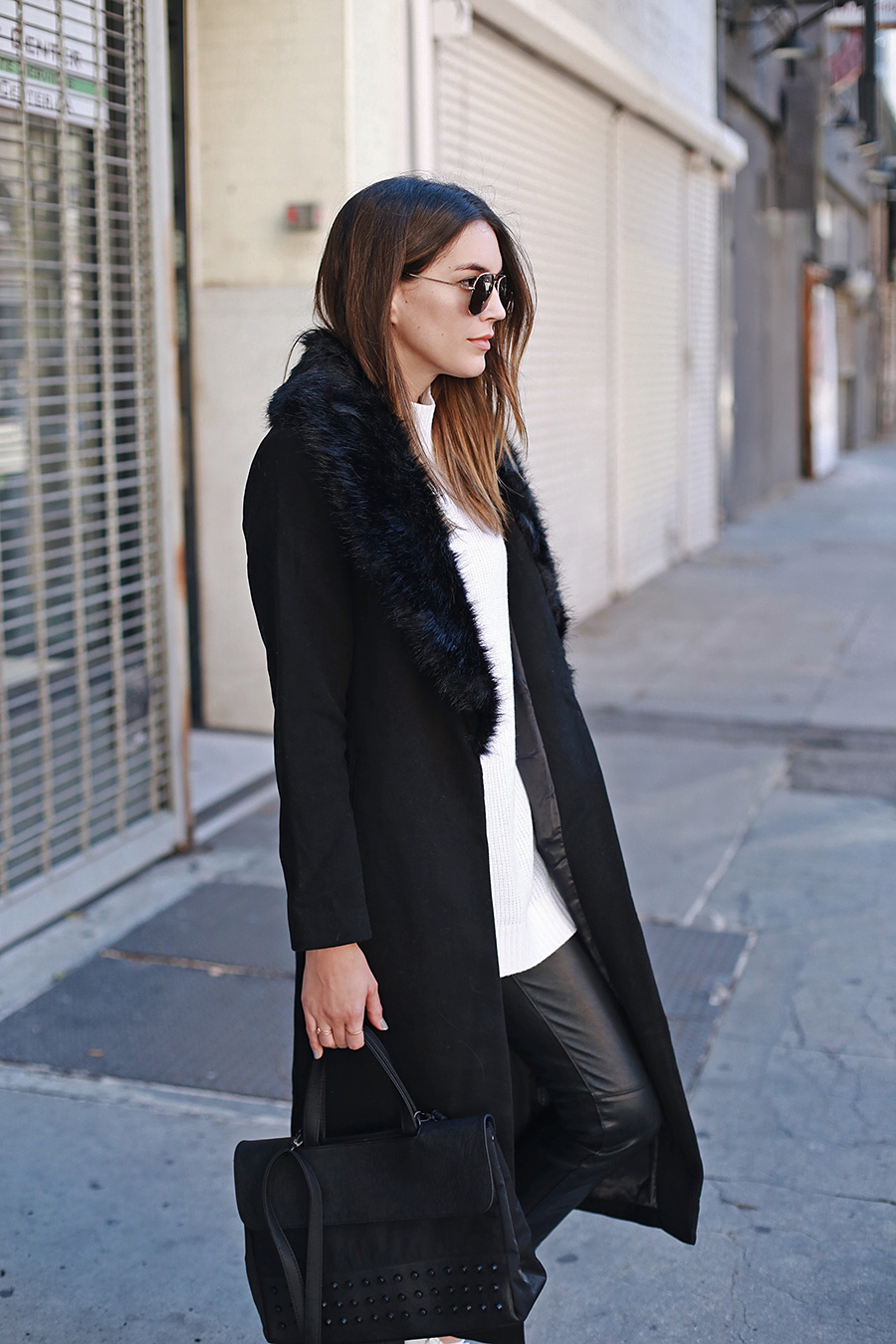 Black Winter Coat | Thrifts and Threads
