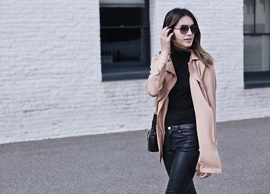 Leather Pants Camel Jacket