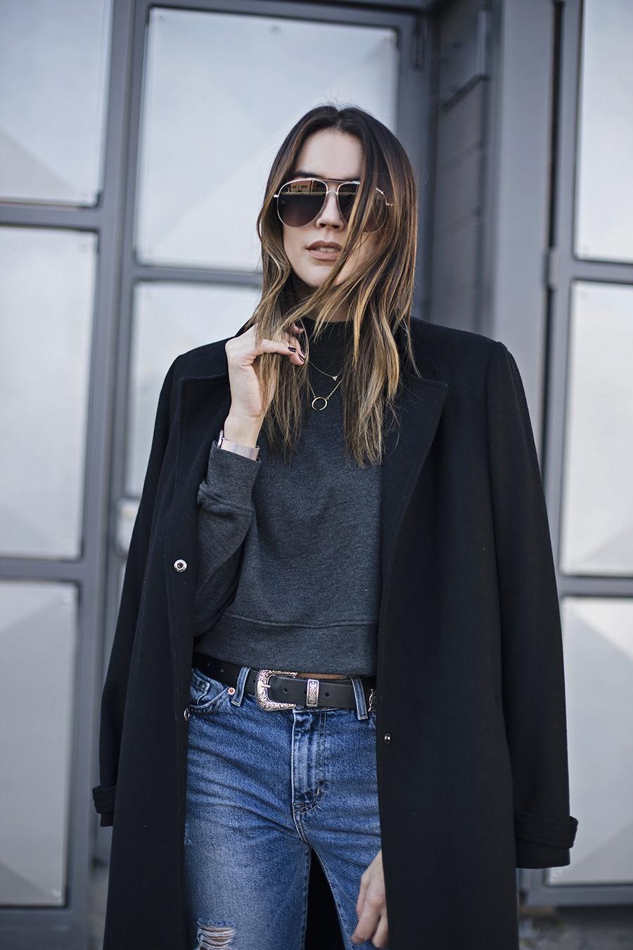 Boyfriend Jeans Cashmere Coat