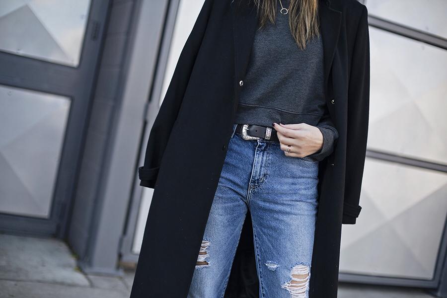 Boyfriend Jeans Western Belt