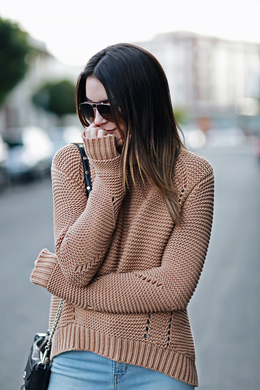 Chunky Knit Camel Sweater