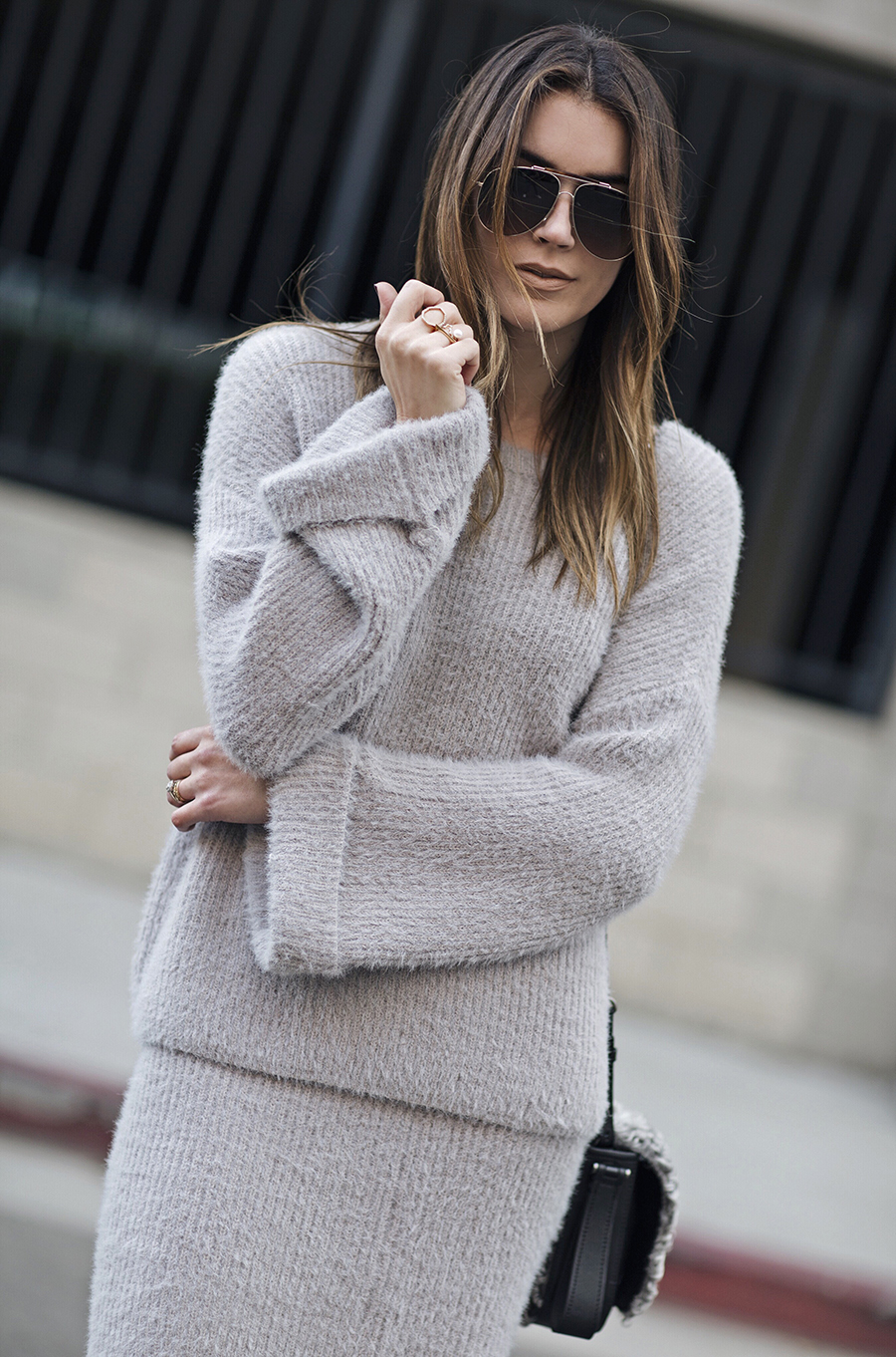 Cozy Sweater Bell Sleeve Top