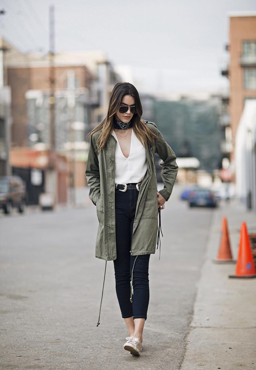 Neckscarf Blue Bandana Blogger Style