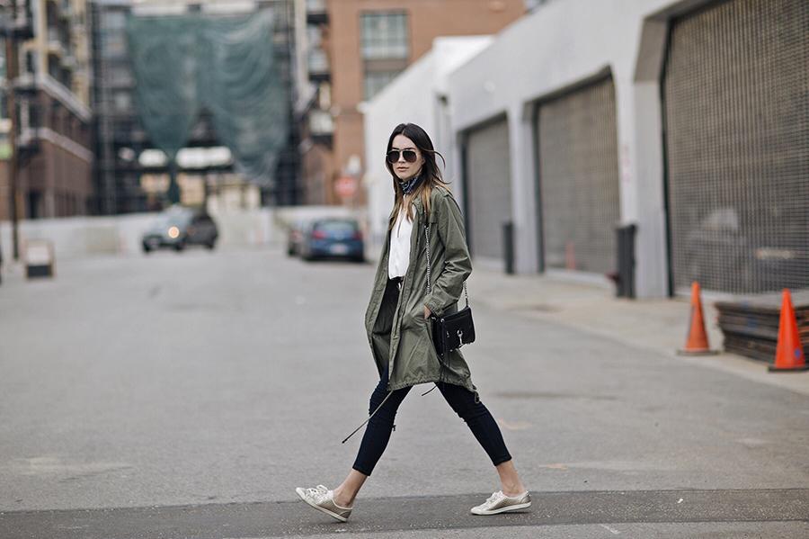 Street Style Sneakers Utility Jacket Bandana