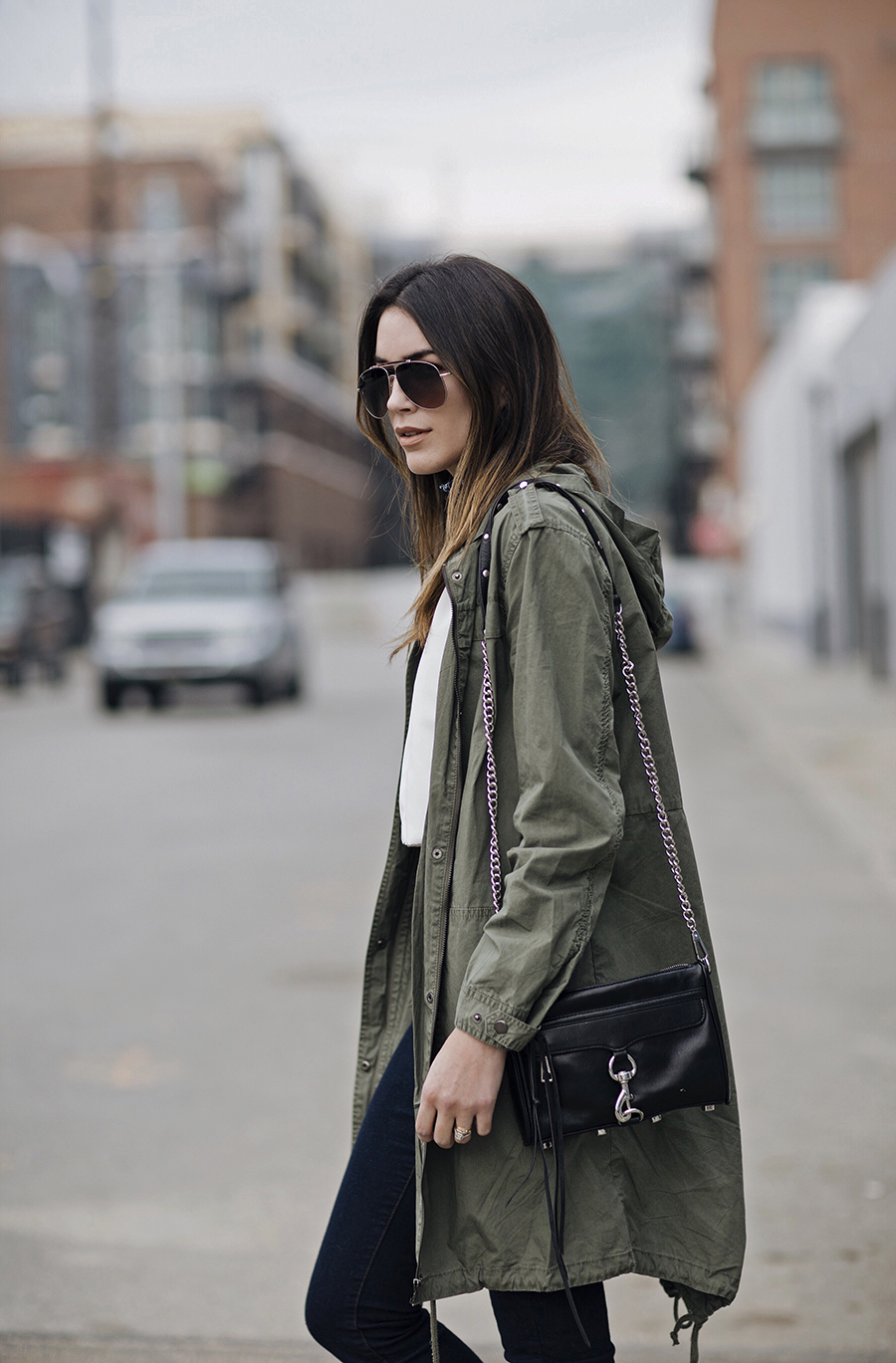 Olive Green Utility Jacket Blogger