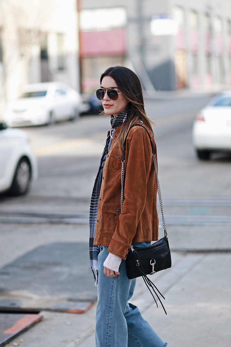 How to wear a suede leather jacket