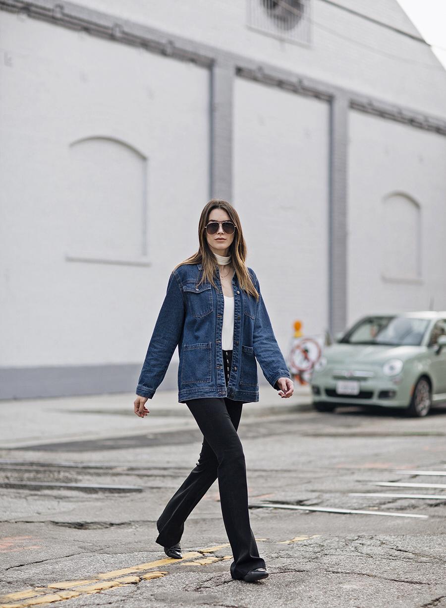 J Brand Black Flare Jeans Blogger
