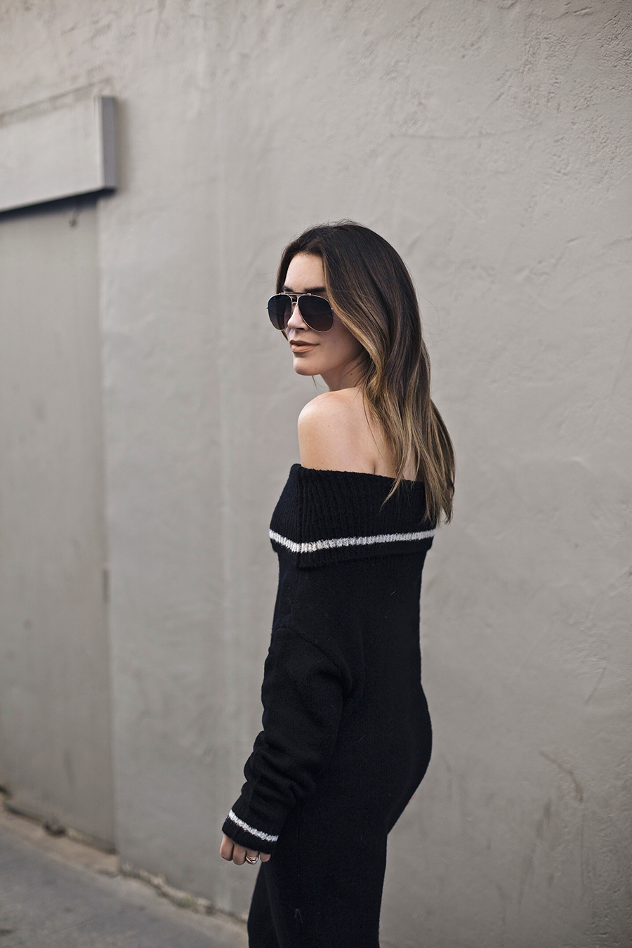 Sweater Striped Dress | brittanyxavier.com