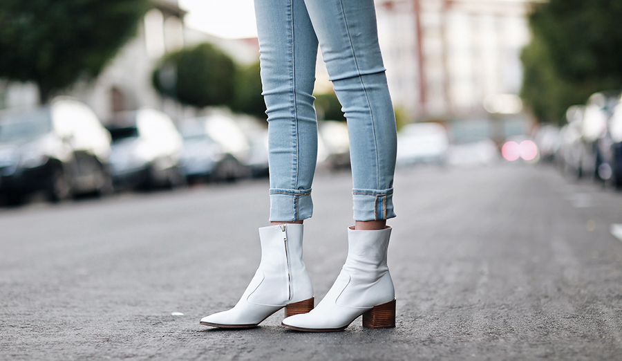 Zara White Ankle Booties | brittanyxavier.com