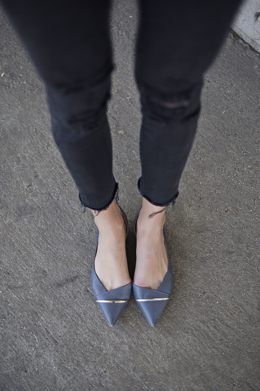 Aldo Blue Pointed Flats