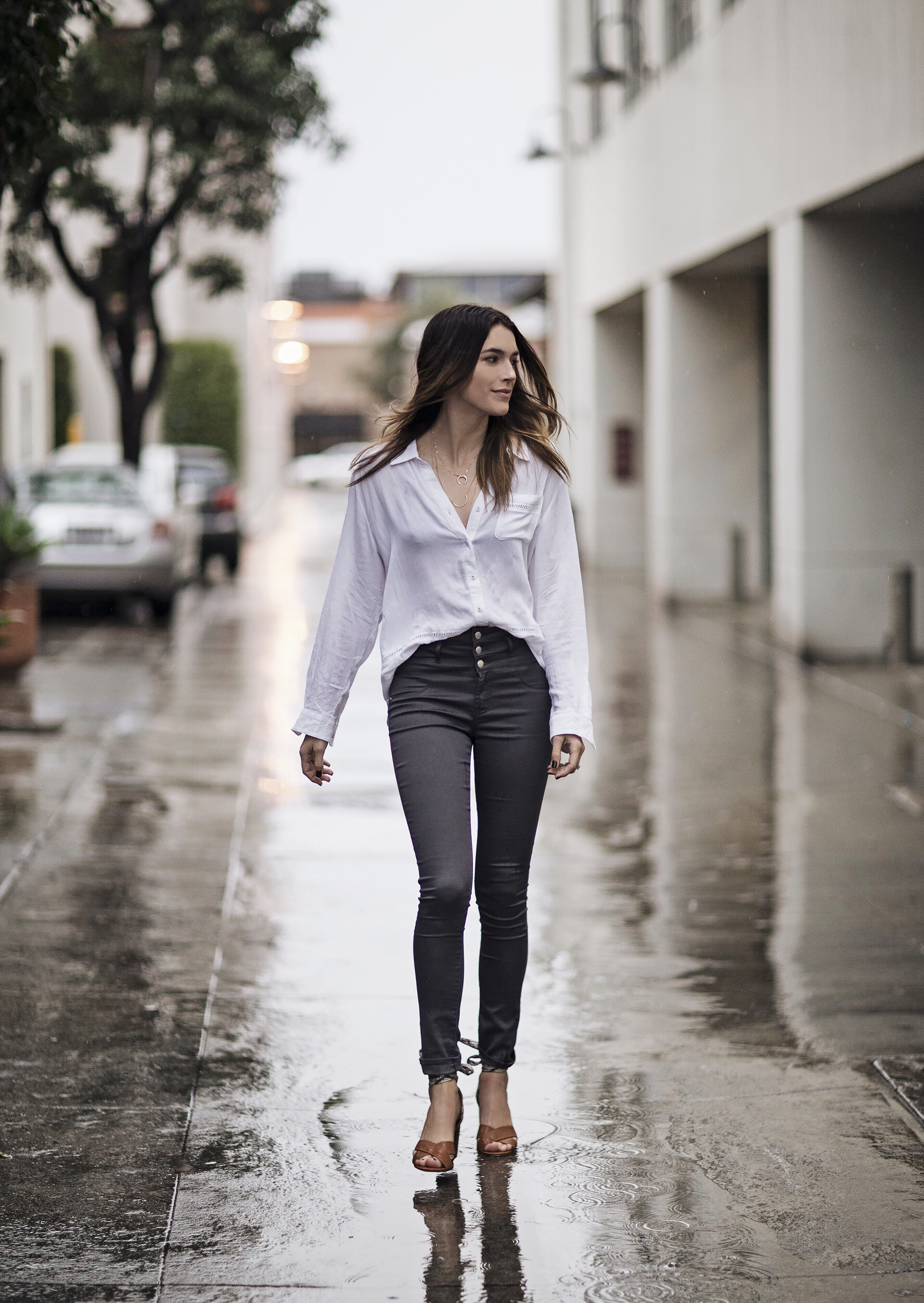 Button Up White Blouse Outfit Ideas