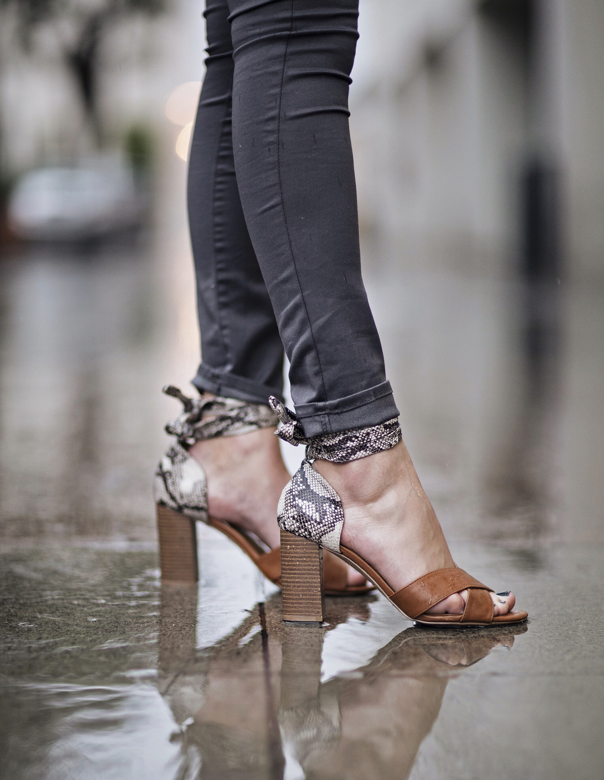 Charlotte Russe Lace Up Wooden Heels
