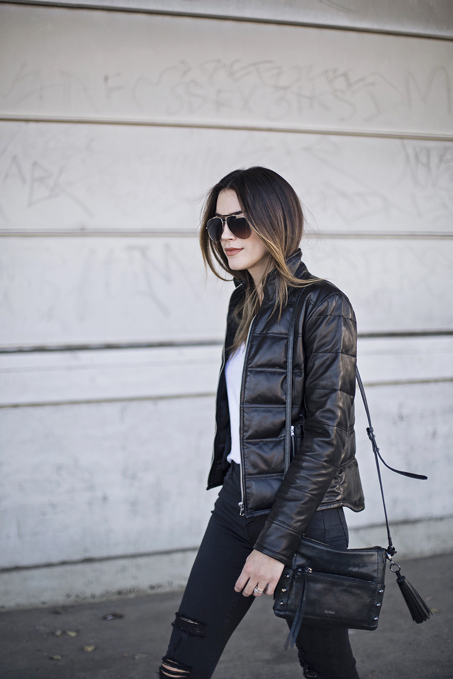 Leather Jacket Blogger Style brittanyxavier.com