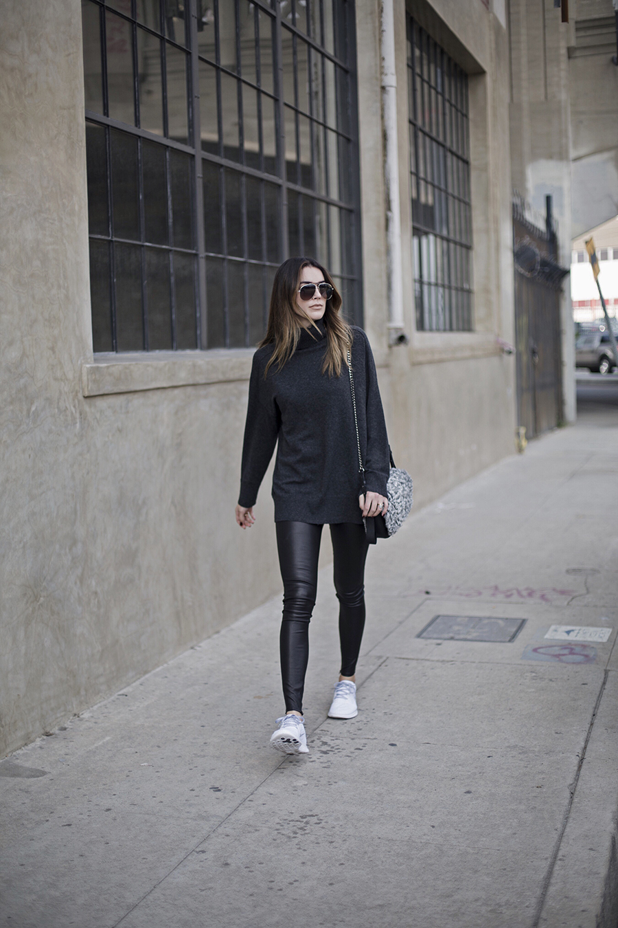 Leather Leggings Blogger Style