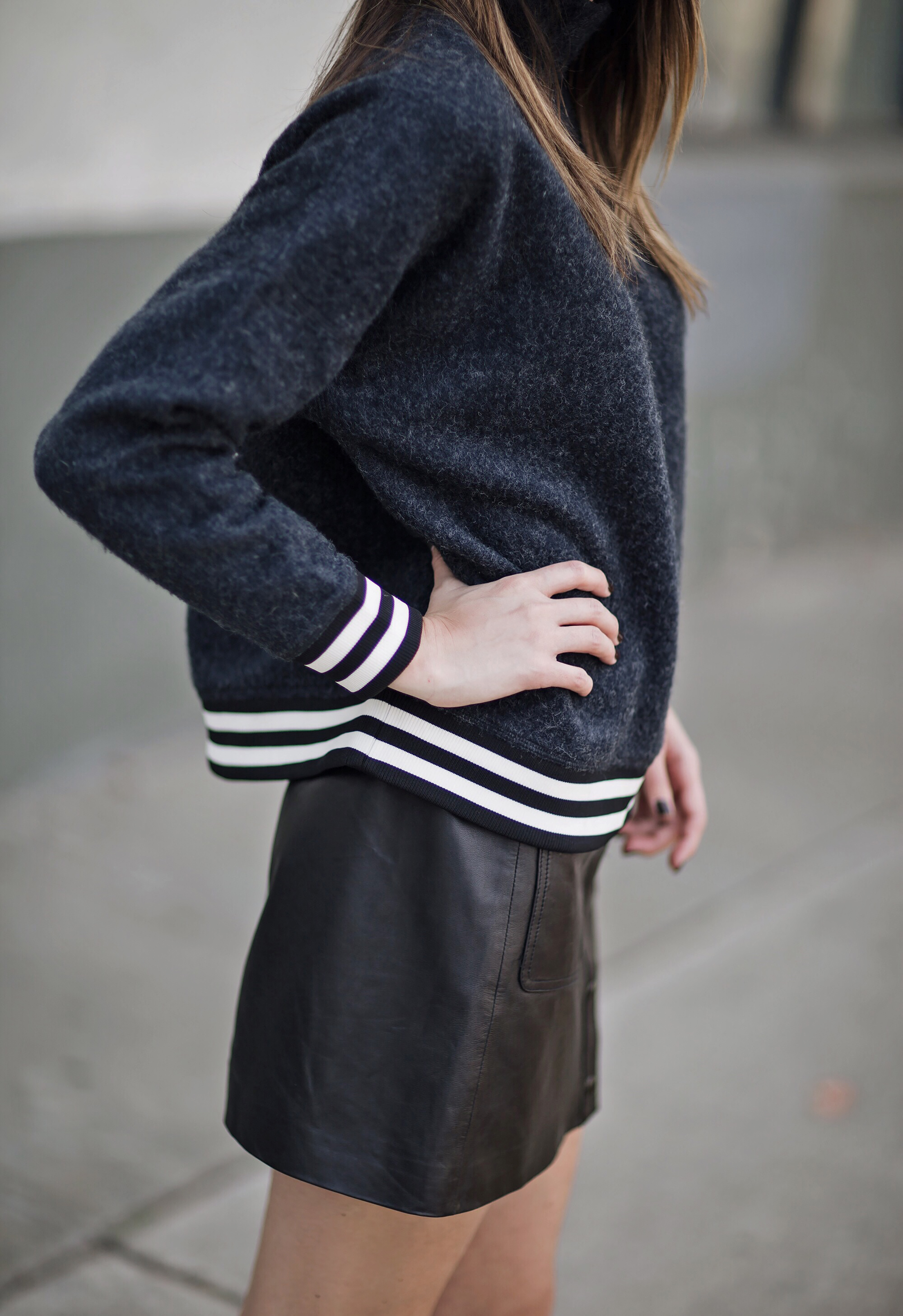 Sporty Stripes Blogger Style