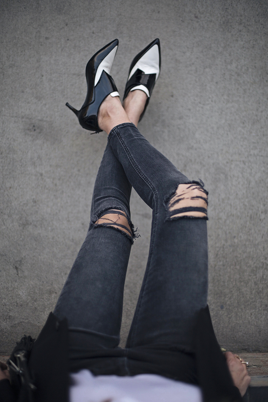 View from Above Ripped Denim
