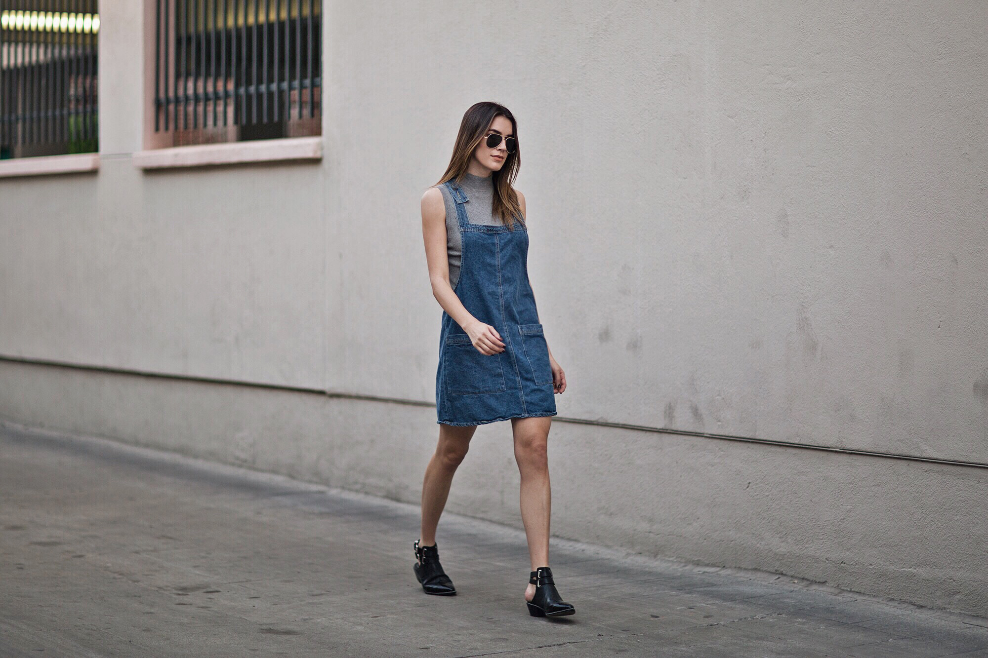 91 Denim Cotton On Overall Dress