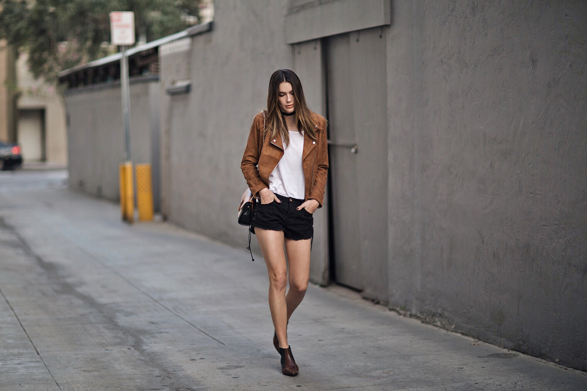 Ankle Booties Suede Tan Jacket