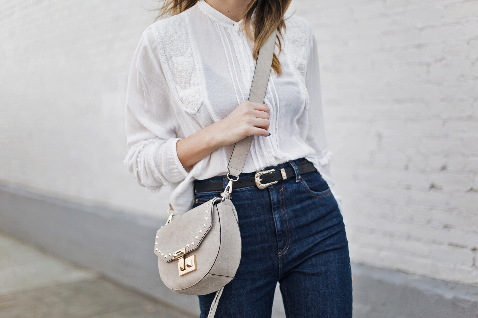 Embroidered White Blouse
