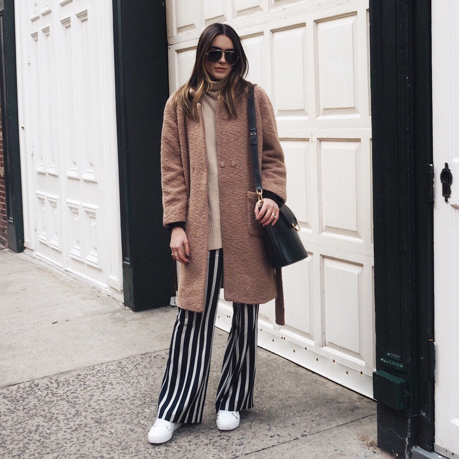 Ganni Fenn Coat Striped Pants