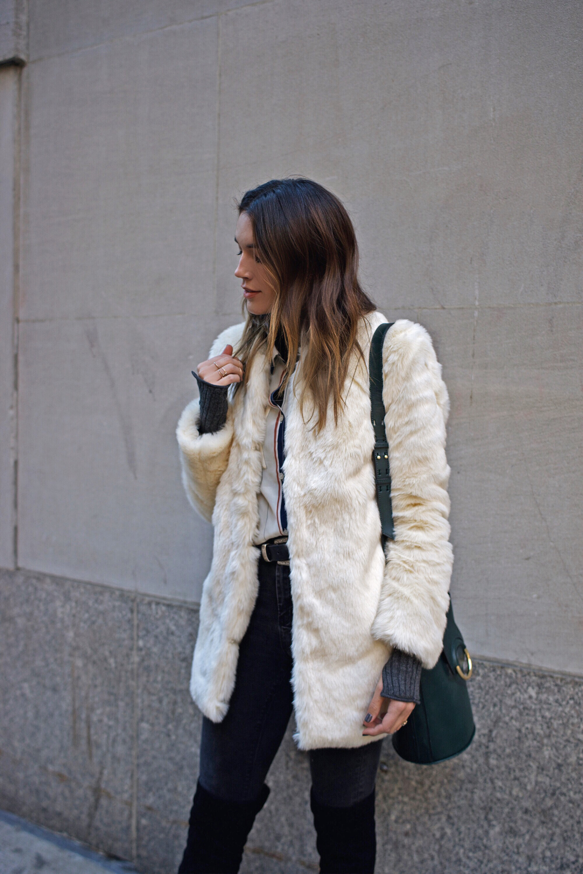 New York Fashion Week Coat Street Style