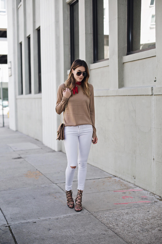 White Jeans Red Bandana brittanyxavier.com