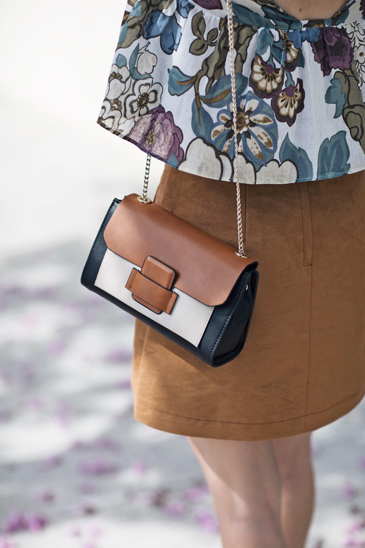 Zara Chain Detail Color Block Bag