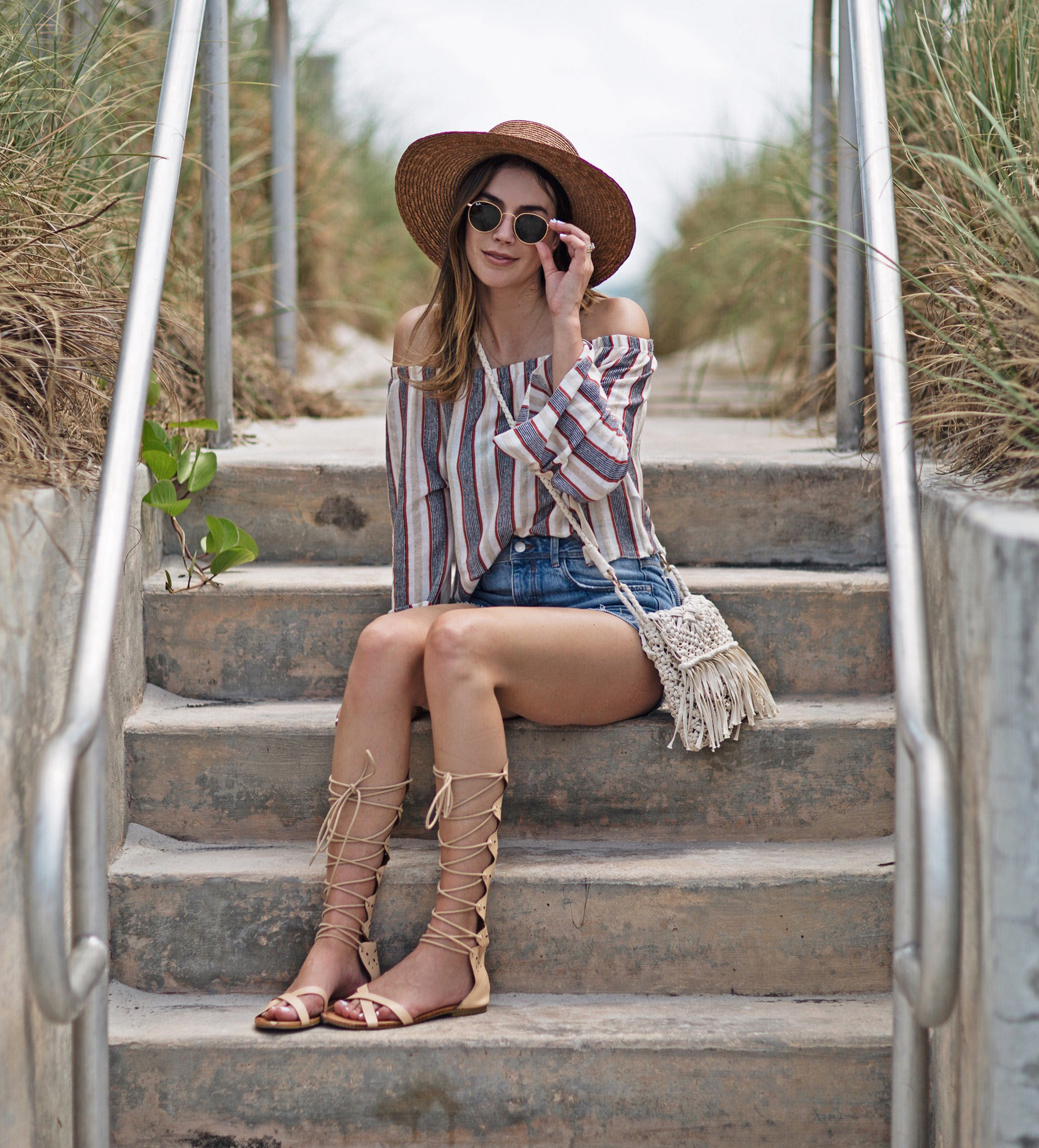 Lace Up Sandals Blogger Style