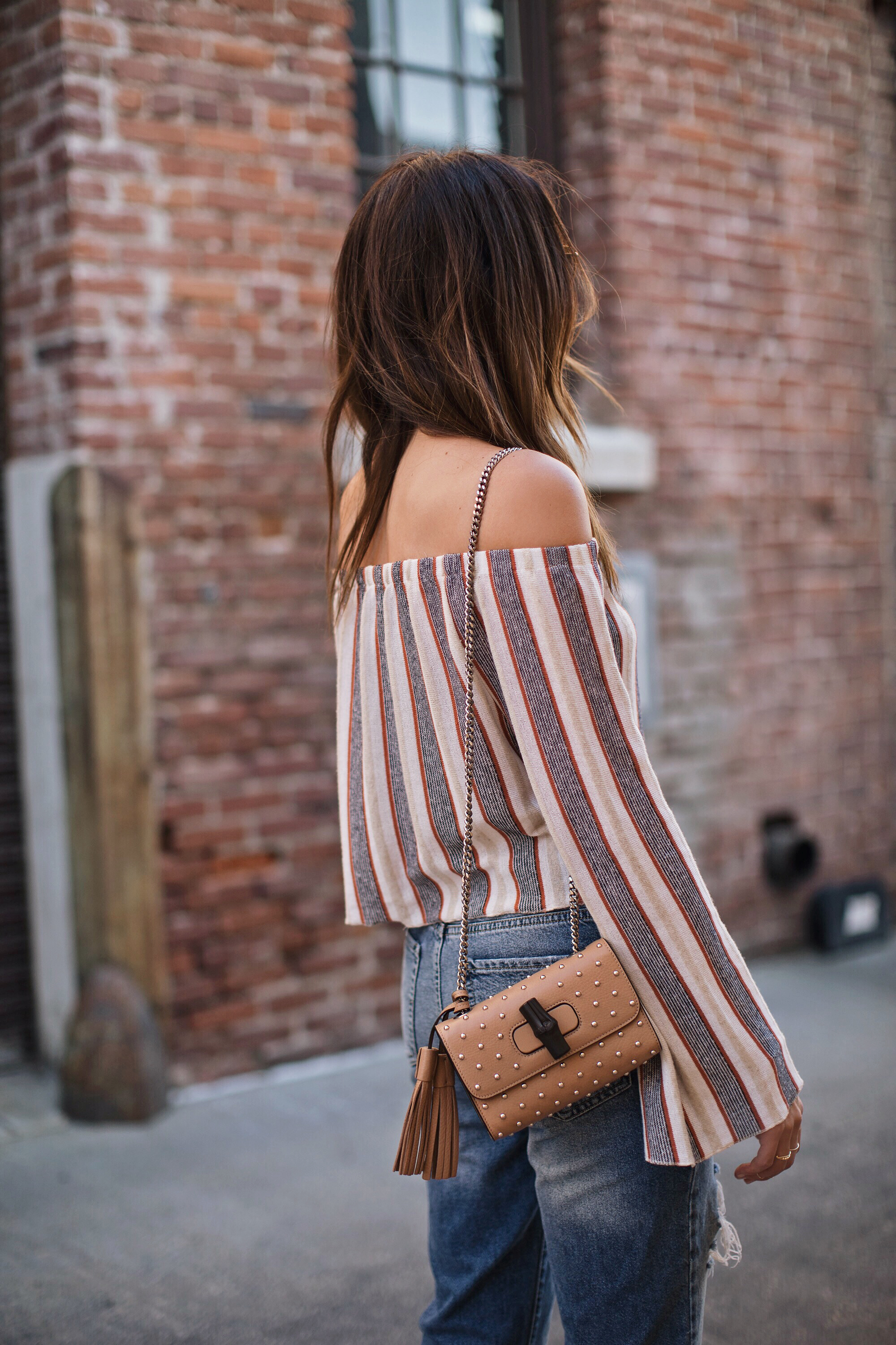 Off the Shoulder Blouse Blogger Style