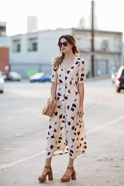 Senso Platform Sandals Floral Dress