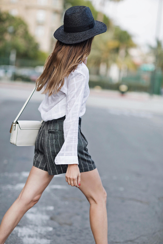 Black Straw Hat Street Style