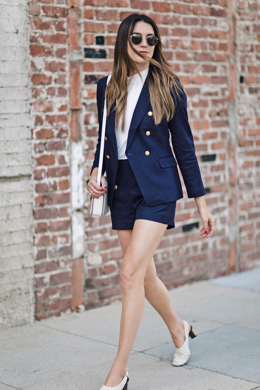 Blue Blazer Shorts Coordinates