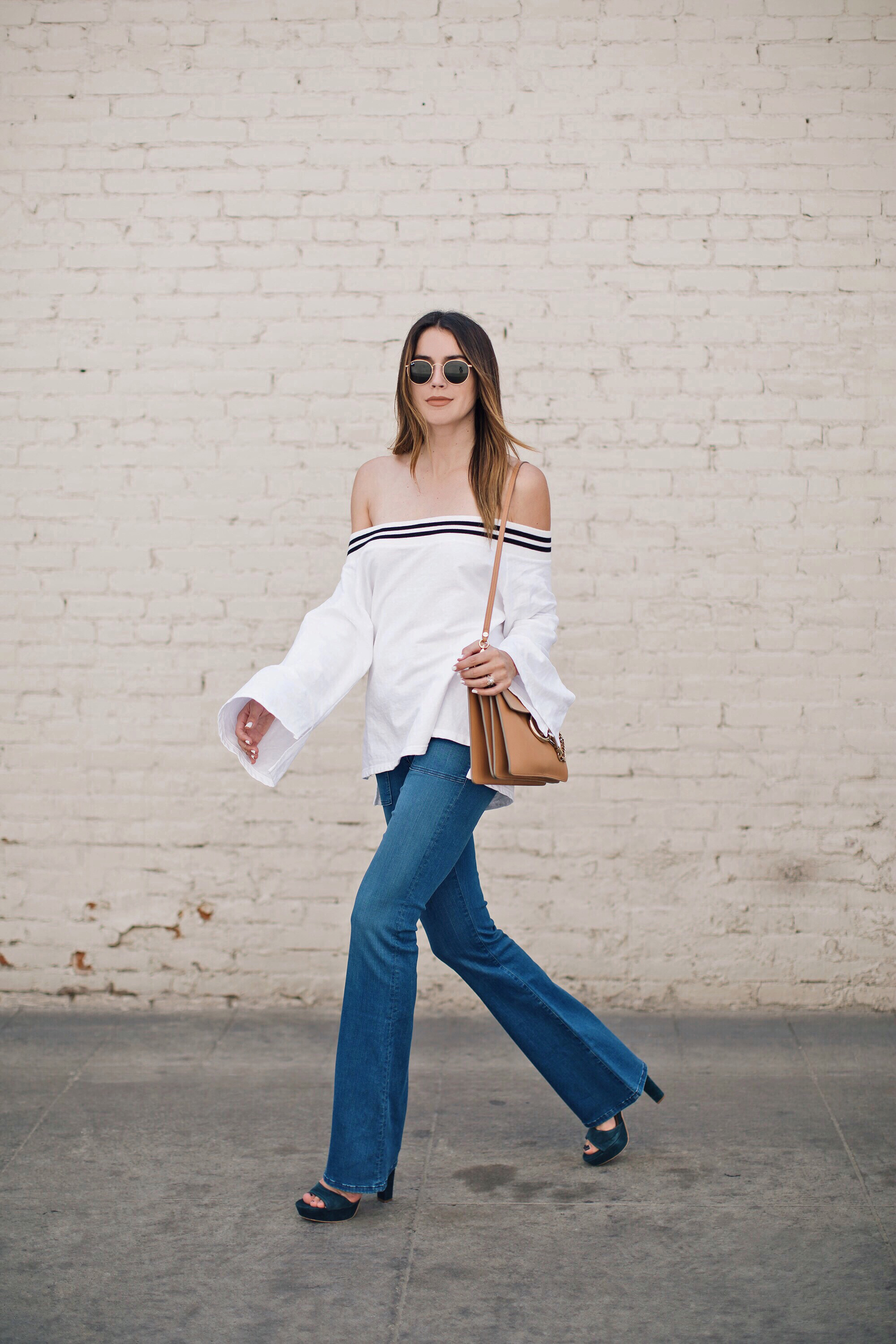 Flare Jeans Bell Sleeves