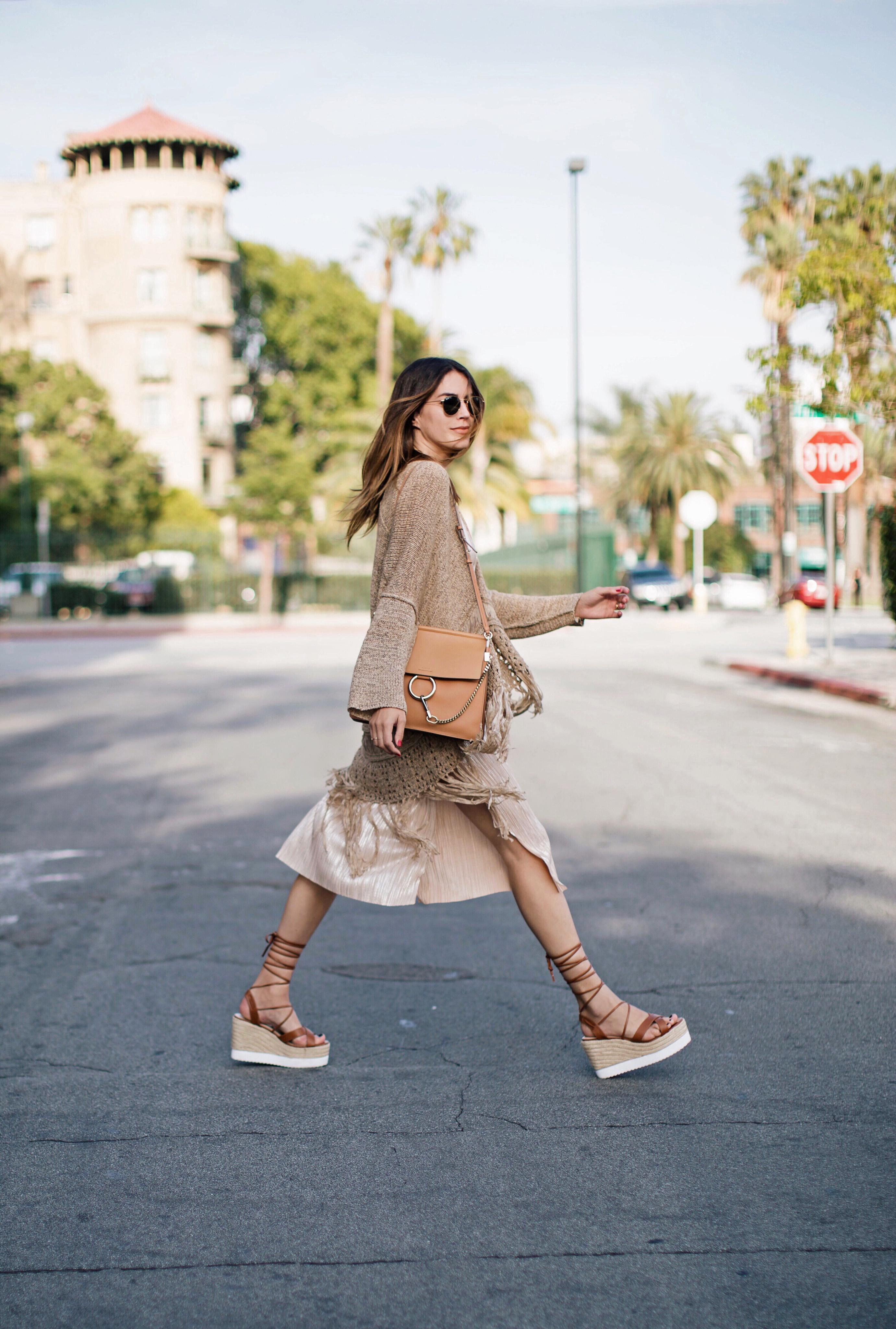 Fringe Boho Jacket Slip Dress Weekend Style