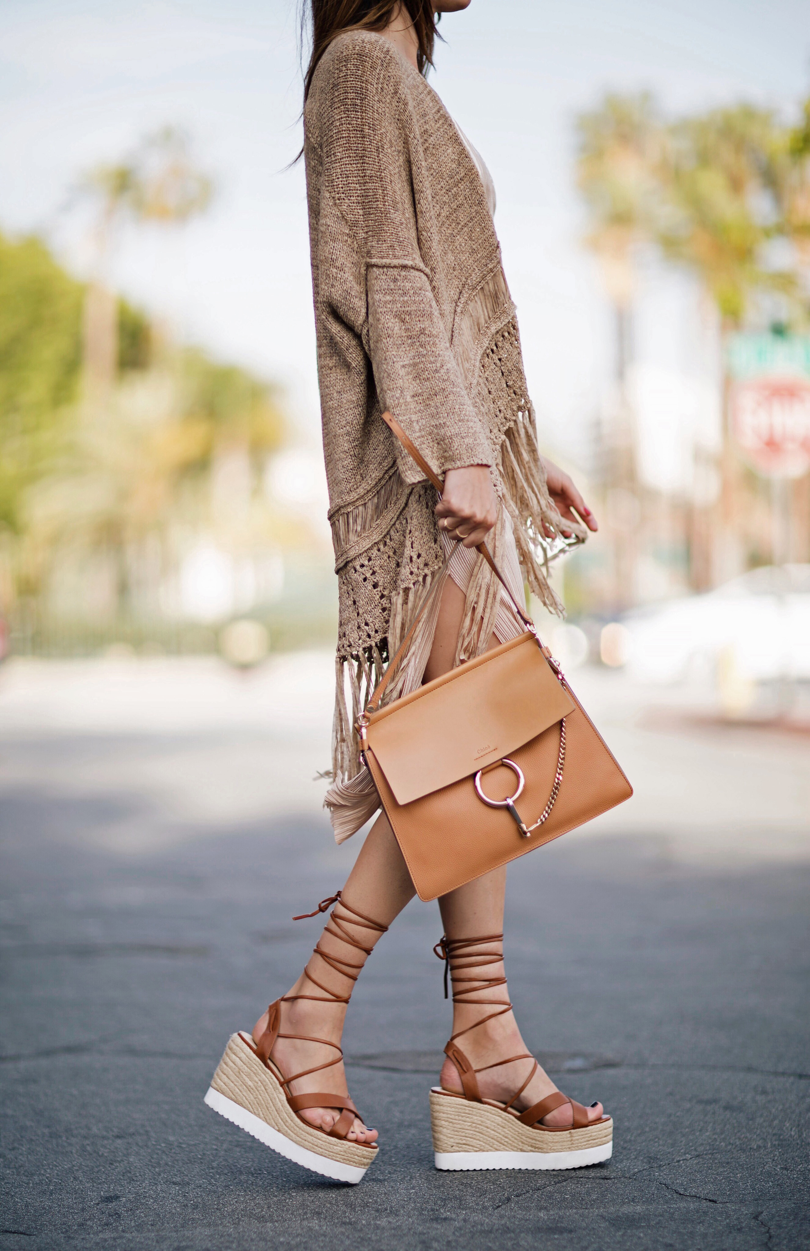 Laceup Flatform Sandals