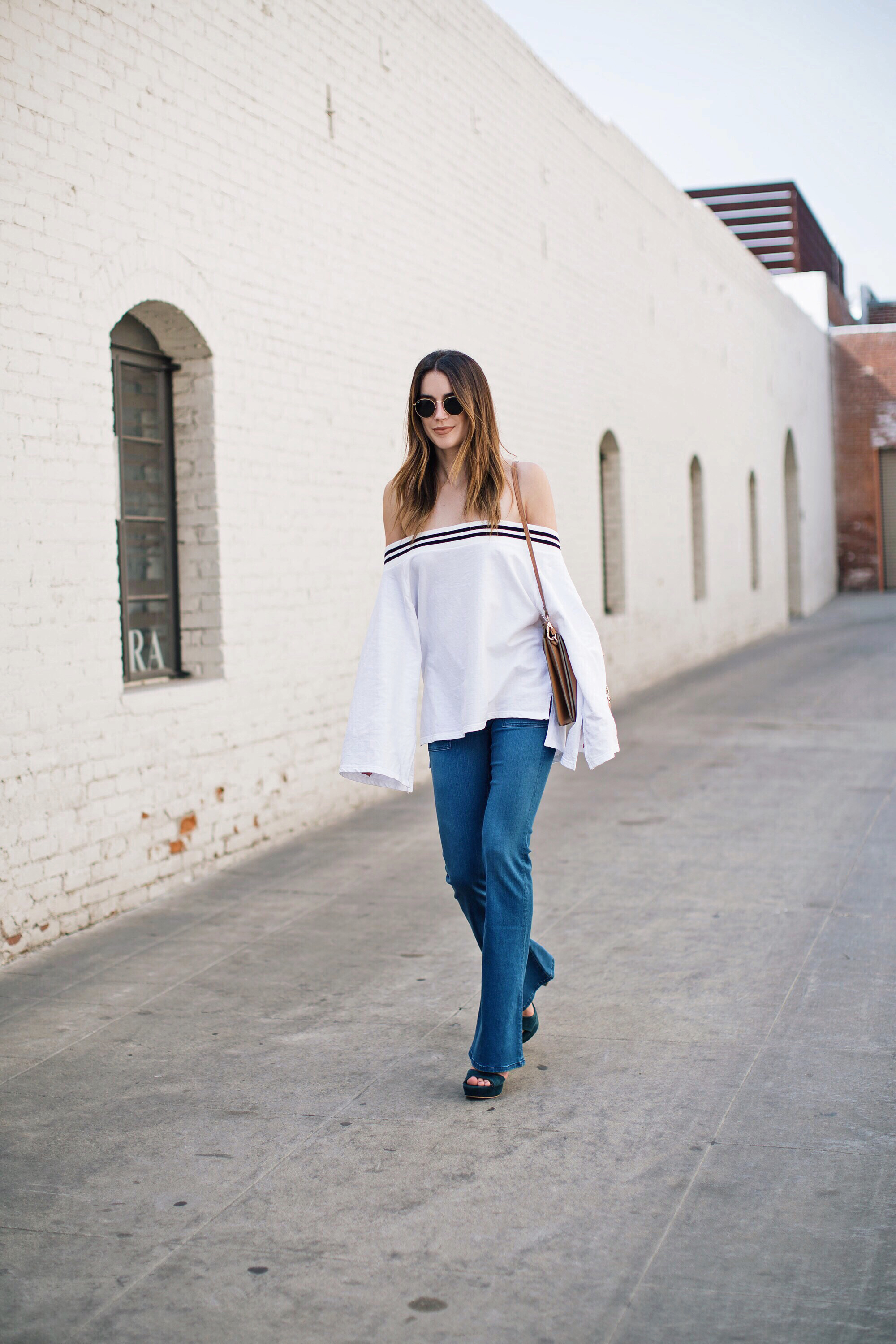 Off the Shoulder Bell Sleeves LA Style Blogger