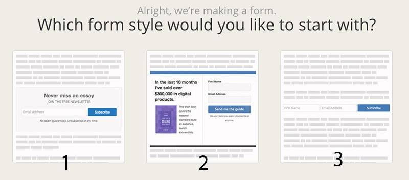 create form on ConvertKit