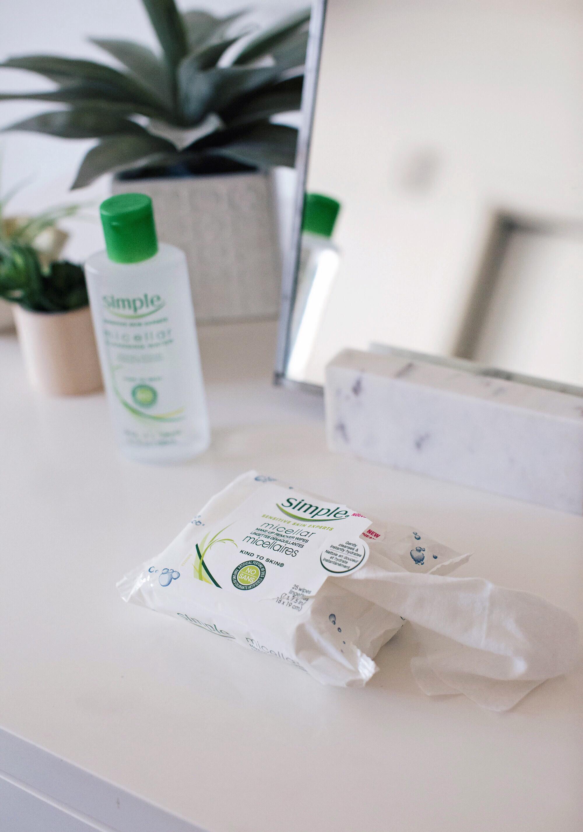 Micellar Wipes Simple Skincare