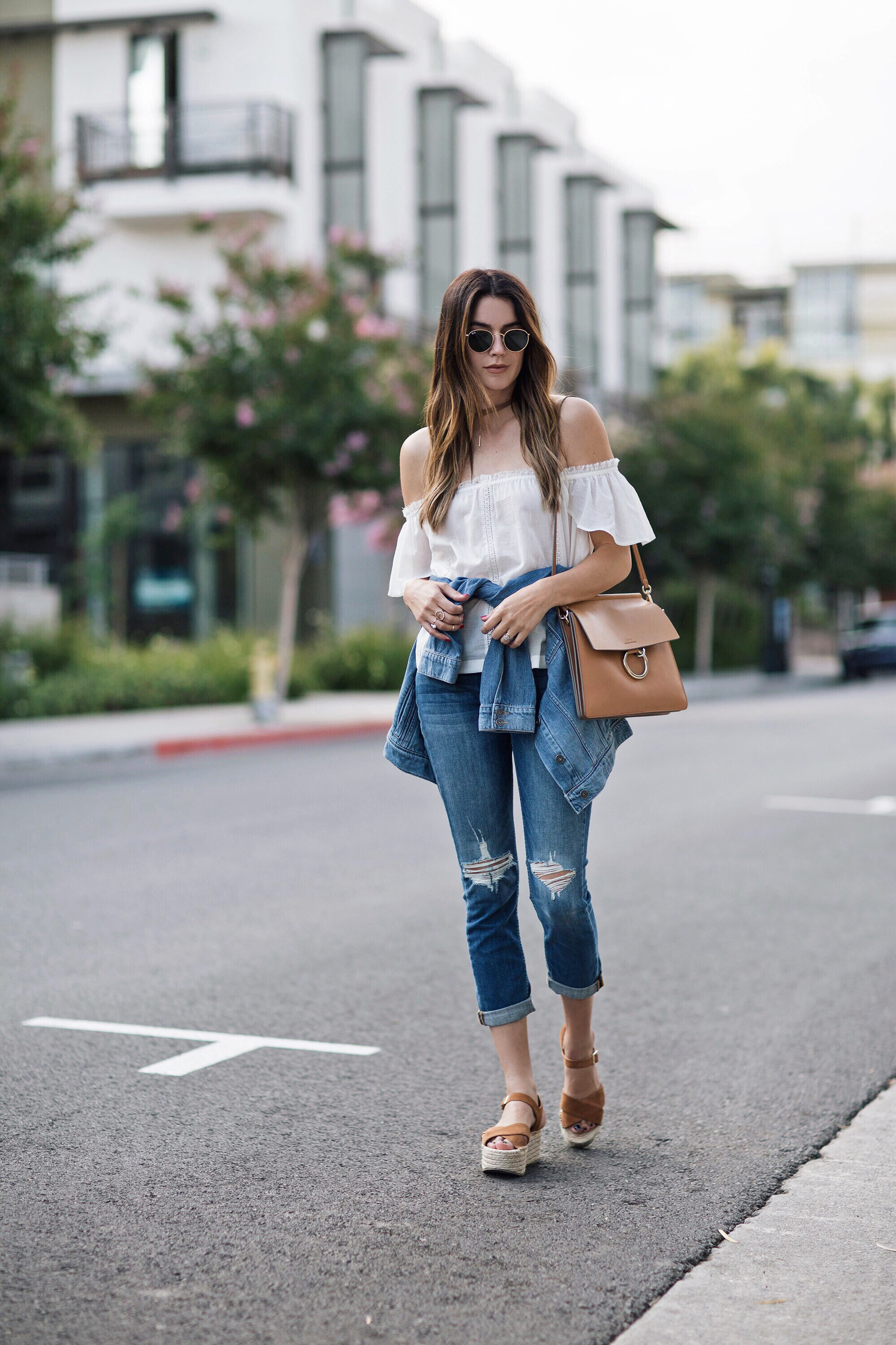 Paige Denim Off The Shoulder