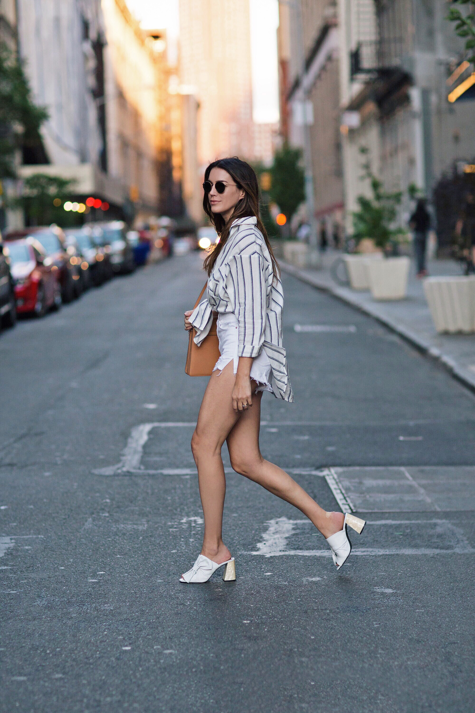 New York Street Style All White Look