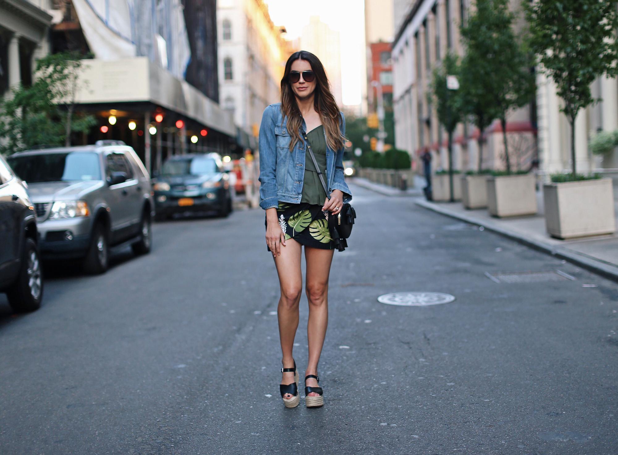 Tropical Print Skirt Blogger