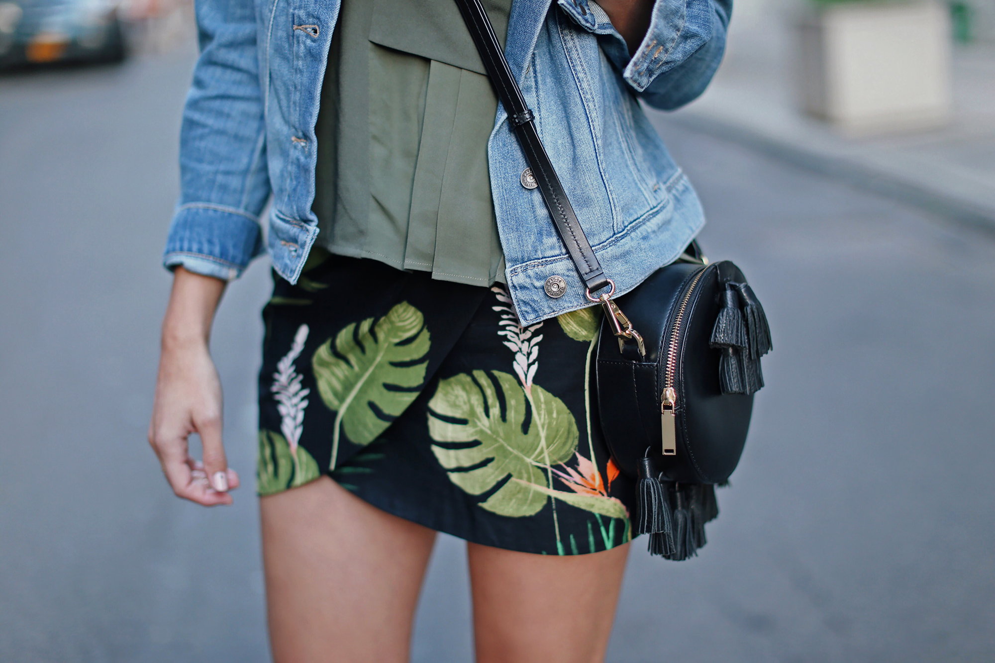Tropical Print Skirt