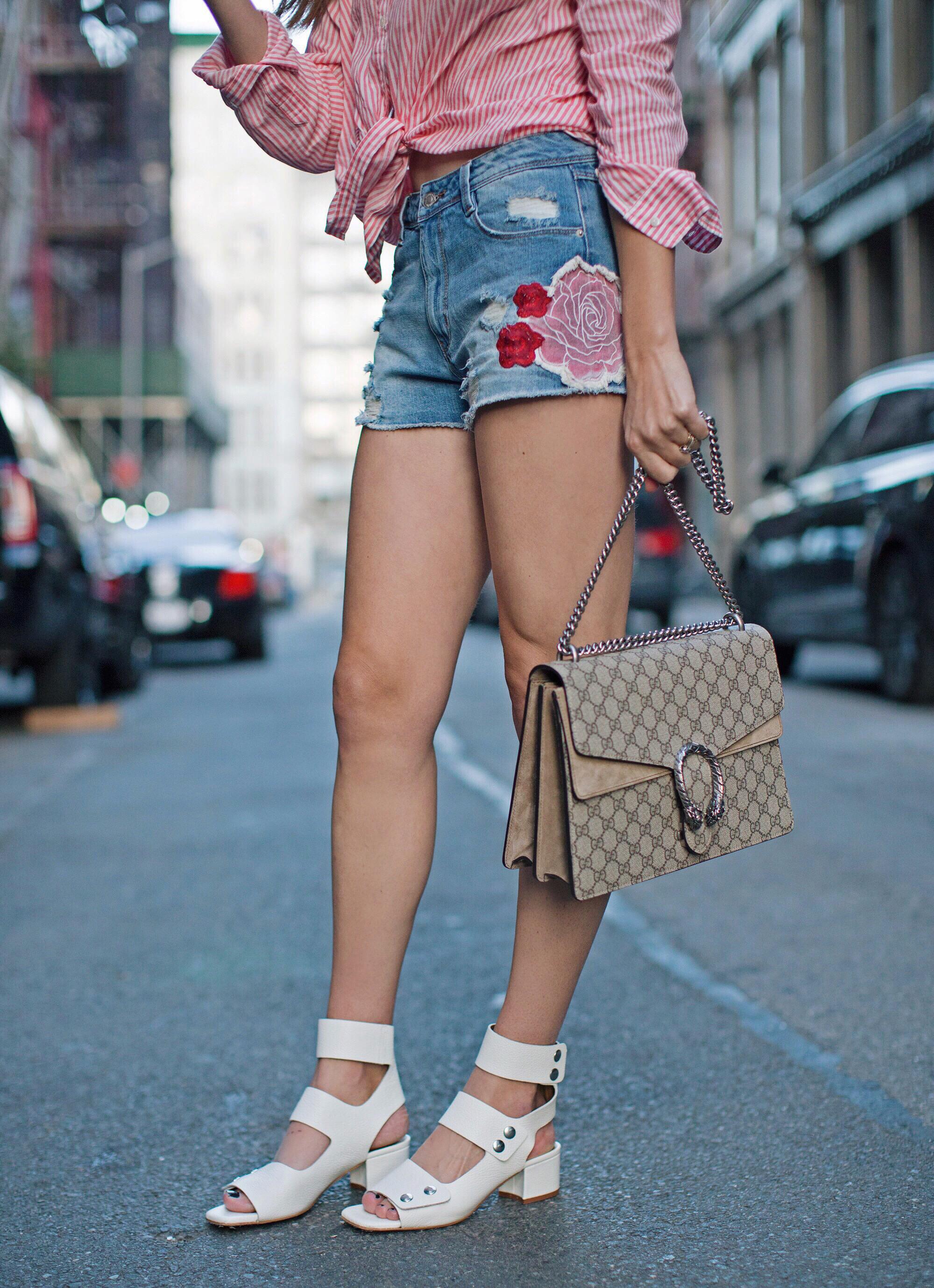 Gucci Bag Patchwork Shorts